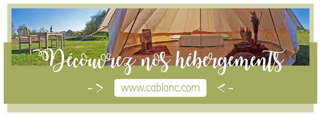 photo des tentes rondes de Cablanc, les vacances autenthiques